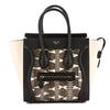 Celine Black and Chalk Leather Printed Watersnake Micro Luggage Handbag (New with Tags)