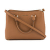Michael Kors Tan Saffiano Leather Medium Savannah Satchel (New with Tags)