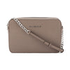 Michael Kors Grey Saffiano Leather Jet Set Travel Large Crossbody Bag (New with Tags)