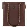 Chanel Brown Calfskin Leather Chain Shoulder Bag (Pre Owned)