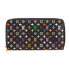 Louis Vuitton Black Monogram Multicolore Zippy Long Wallet (Pre Owned)