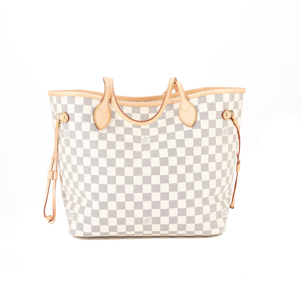 77370a5f3bba Louis Vuitton Damier Azur Canvas Neverfull MM Bag (Pre Owned ...