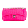 Chanel Pink Quilted Nylon Single Flap Chain Bag (Pre Owned)