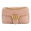 Gucci Nude Leather GG Marmont Matelasse Shoulder Bag (New with Tags)