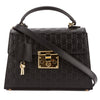 Gucci Black Signature Leather Padlock Top Handle Bag (New with Tags)