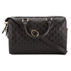 Gucci Black Signature Soft Leather Top Handle Bag (New with Tags)