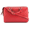 Gucci Hibiscus Red Signature Soft Leather Top Handle Bag (New with Tags)
