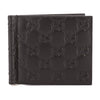 Gucci Black Signature Leather Money Clip Wallet (New with Tags)