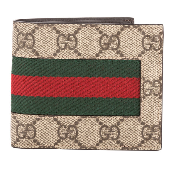 670f36d6dee Gucci GG Supreme Canvas Web Wallet (New with Tags) - 3452017