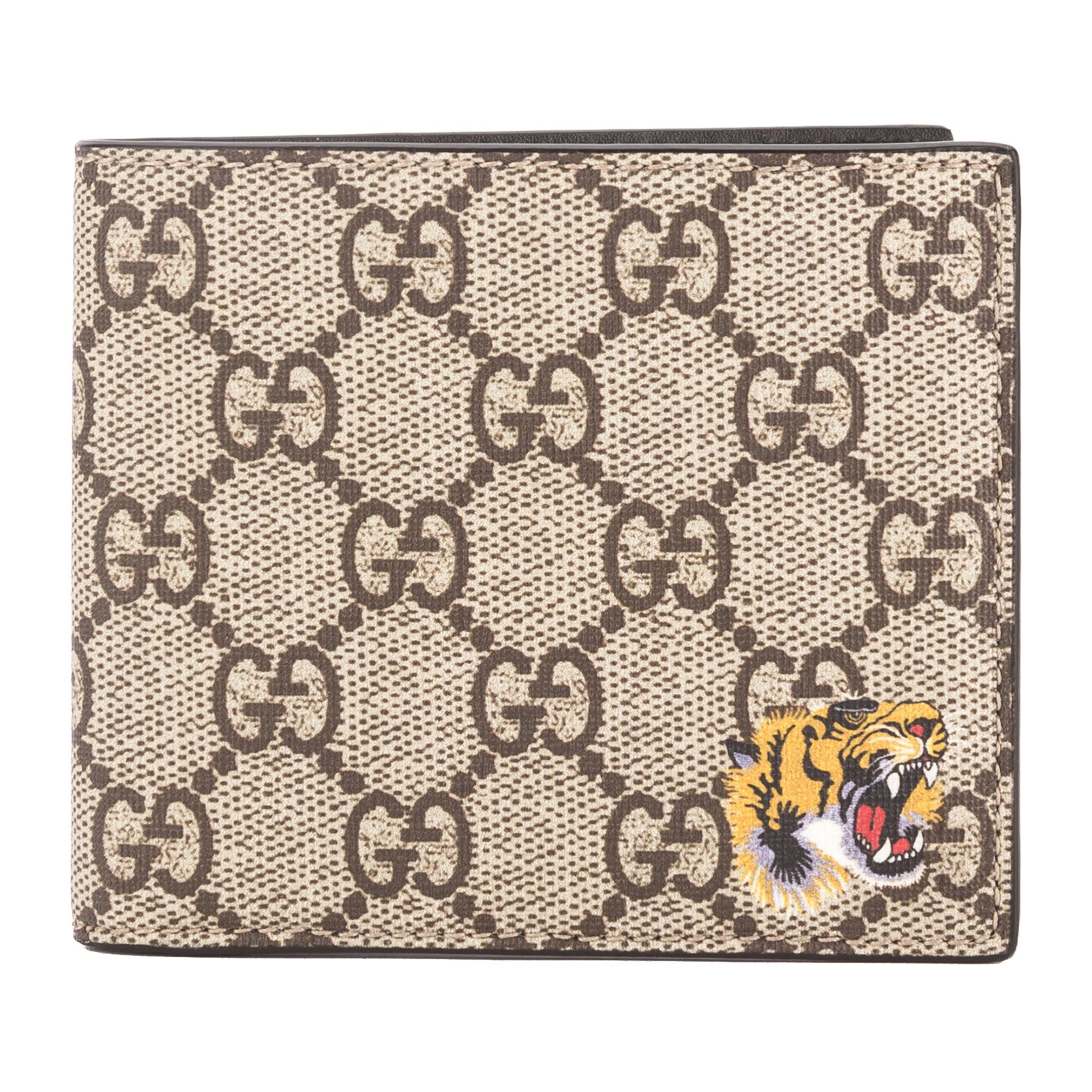 88ad3e6aac9 Gucci GG Supreme Canvas Tiger Print Wallet (New with Tags) - 3452019 ...