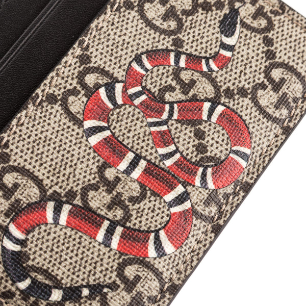 a41bdfeb0b60 ... Gucci GG Supreme Canvas Snake Print Card Case (New with Tags) ...