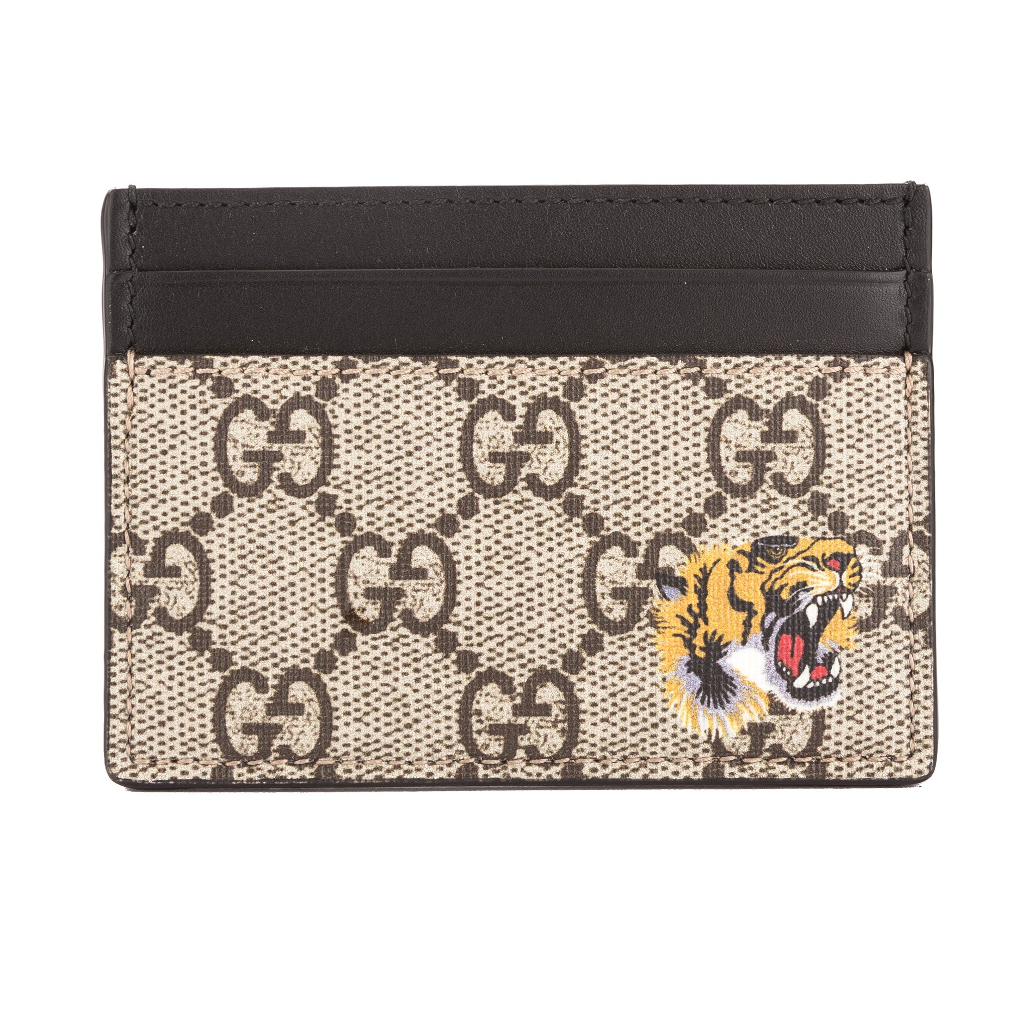 Gucci GG Supreme Canvas Tiger Print Card Case (New with Tags ...