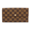 Louis Vuitton Damier Ebene Canvas Sarah Long Wallet (Pre Owned)