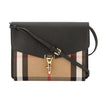 Burberry Black Leather House Check Small Macken Crossbody Bag (New with Tags)