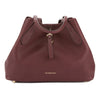 Burberry Mahogany Red Grainy Leather Medium Tote Bag (New with Tags)