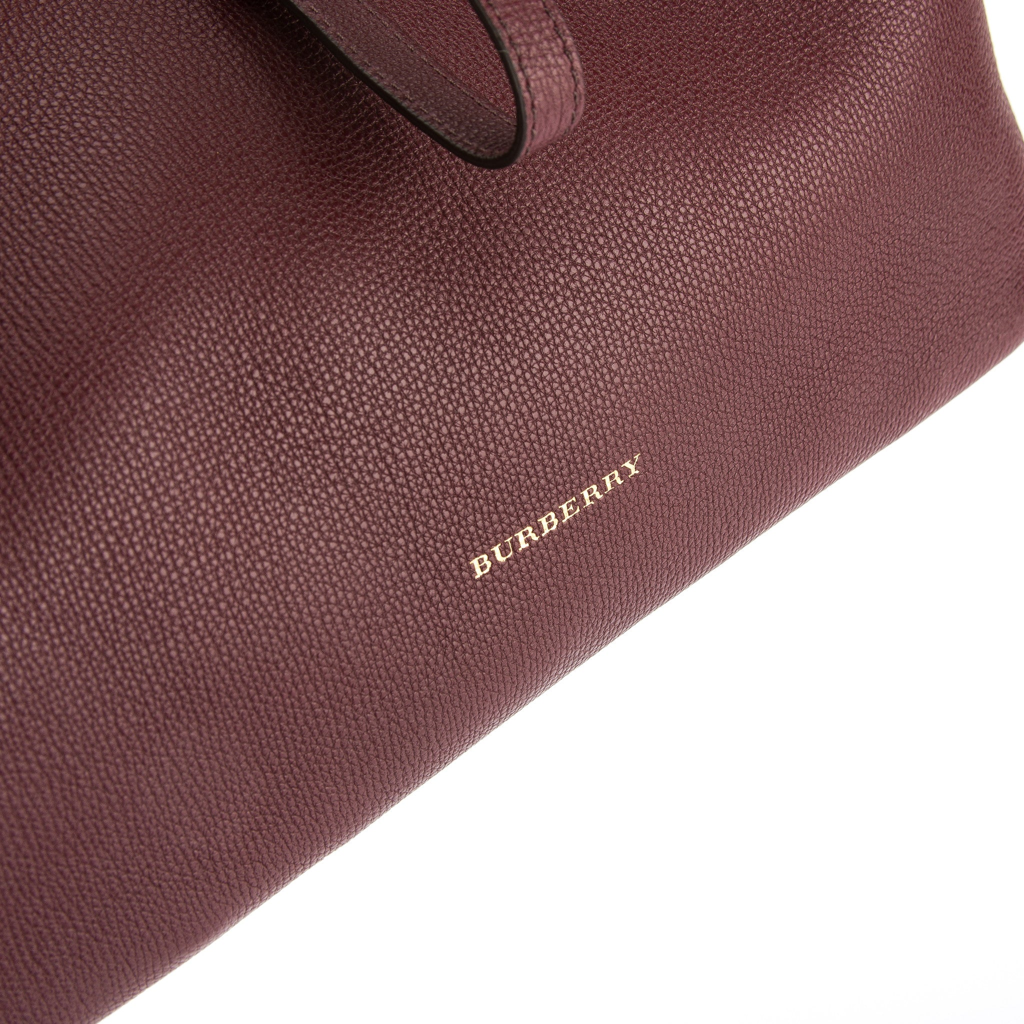 Burberry Mahogany Red Grainy Leather Medium Tote Bag (New with Tags ... 45ba057765