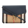 Burberry Navy Leather House Check Small Macken Crossbody Bag (New with Tags)