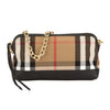 Burberry House Check and Black Leather Clutch Bag (New with Tags)