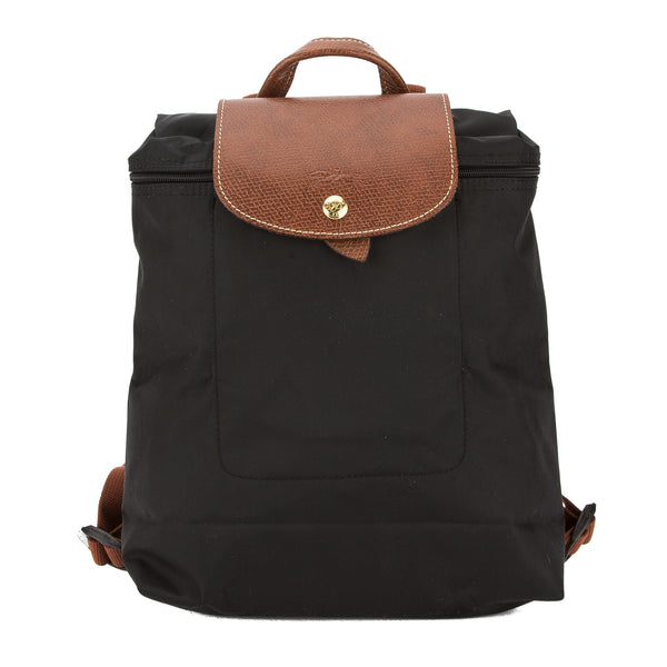 Longchamp Black Nylon Canvas Le Pliage Backpack (New with Tags)