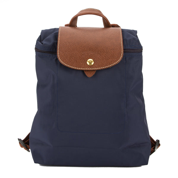 Longchamp Navy Nylon Canvas Le Pliage Backpack (New with Tags)
