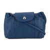 Longchamp Blue Metis Leather Le Pliage Cuir Crossbody Bag (New with Tags)