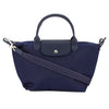 Longchamp Navy Nylon Canvas Small Le Pliage Neo Bag (New with Tags)