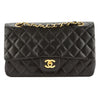 Chanel Black Quilted Calfskin Leather Double Flap Bag (Pre Owned)