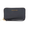 Michael Kors Navy Saffiano Leather Jet Set Travel Large Smartphone Wristlet (New with Tags)