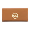 Michael Kors Luggage Venus Leather Fulton Carryall Wallet (New with Tags)
