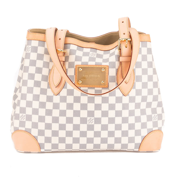 bd49e5dce5be Louis Vuitton Damier Azur Canvas Hampstead MM Bag (Pre Owned ...