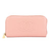 Chanel Pink Caviar Leather Zip Around Wallet (Pre Owned)