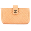 Chanel Pink Quilted Caviar Leather Accessories Pouch (Pre Owned)