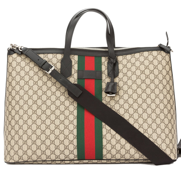 0734fda49086 Gucci GG Supreme Canvas Web Duffle Bag (New with Tags) - 3488002 ...