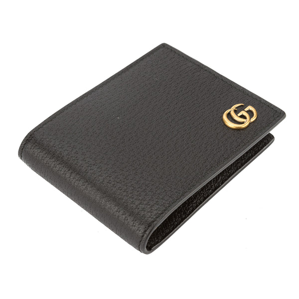 0d697b4d45c3 ... Gucci Black Leather GG Marmont Bifold Wallet (New with Tags) ...
