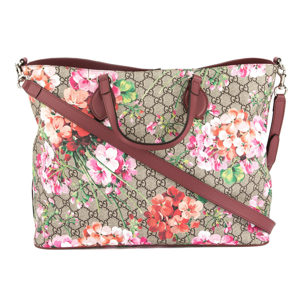 11663bca040b75 Gucci Soft GG Supreme Canvas Blooms Tote Bag (New with Tags ...