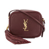 Saint Laurent Burgundy Leather Monogram Blogger Bag (New with Tags)