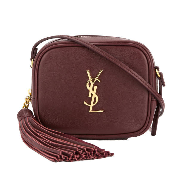 ed5ec9542775 Yves Saint Laurent Saint Laurent Burgundy Leather Monogram Blogger Bag New  with Tags