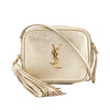 Saint Laurent Pale Gold Leather Monogram Blogger Bag (New with Tags)