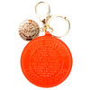 Louis Vuitton Orange Sunset Monogram Vernis Leather T/B Bag Charm (Pre Owned)