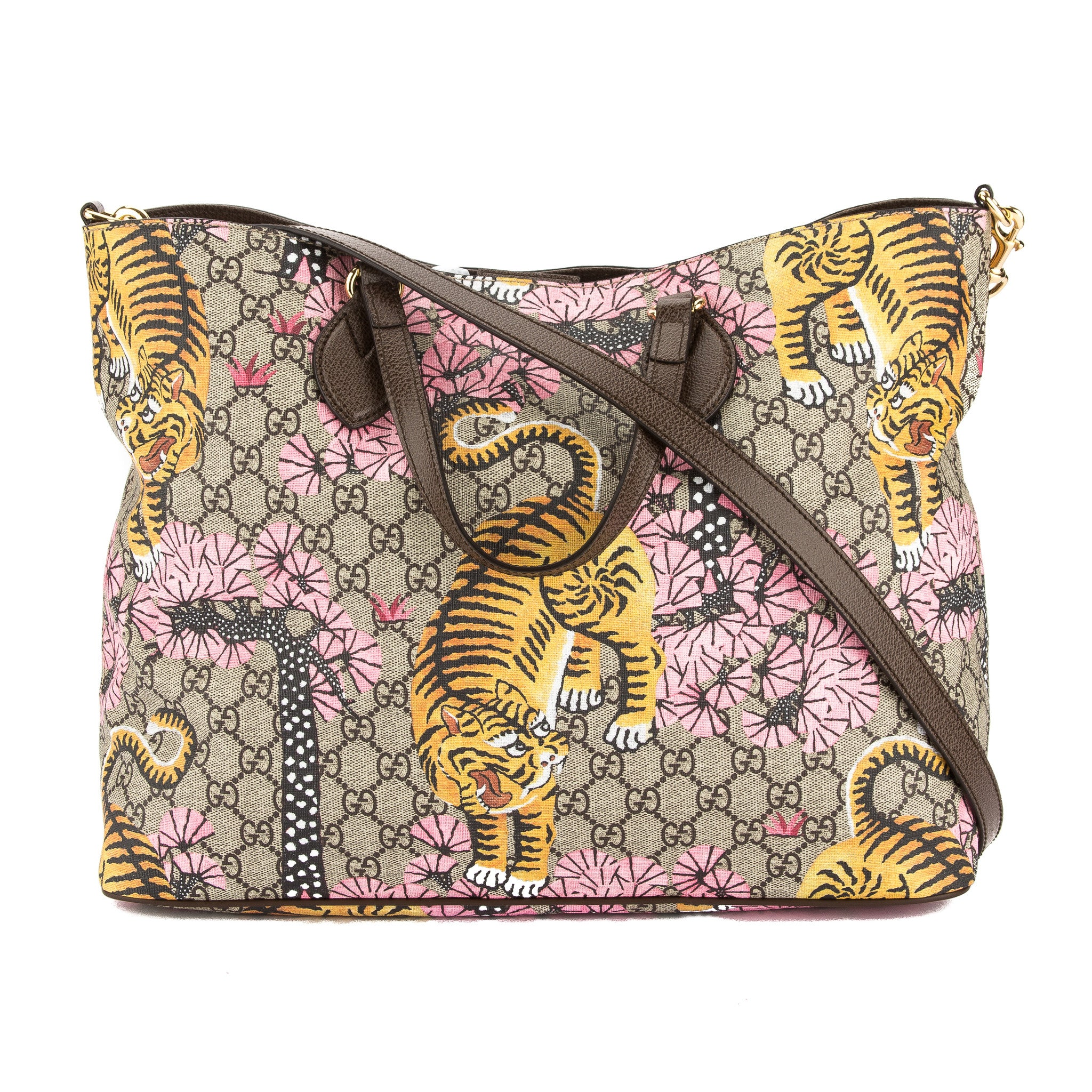 fdc627d1475 Gucci Soft GG Supreme Canvas Bengal Tote Bag (New with Tags ...