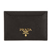 Prada Black Saffiano Leather Credit Card Holder (New with Tags)