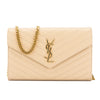 Saint Laurent Powder Matelasse Leather Monogram Chain Wallet (New with Tags)