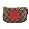 Louis Vuitton Damier Ebene Canvas Mini Pochette T&B Accessoires Bag (Pre Owned)