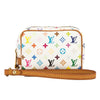 Louis Vuitton White Monogram Canvas Multicolore Truth Wapiti Accessory Case (Pre Owned)