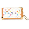 Louis Vuitton White Monogram Canvas Multicolore Pochette Cles Coin Case (Pre Owned)