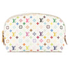Louis Vuitton White Monogram Canvas Multicolore Cosmetic Pouch (Pre Owned)