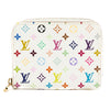 Louis Vuitton White Monogram Canvas Multicolore Zippy Coin Purse (Pre Owned)