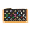 Louis Vuitton Black Monogram Canvas Multicolore Pochette Cles Coin Case (Pre Owned)