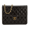 Chanel Black Quilted Lambskin Leather Medium Single Flap Bag (Pre Owned)