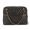 Chanel Black Quilted Chevron Lambskin Leather Chain Shoulder Bag (Pre Owned)